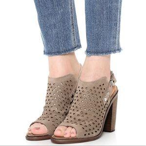 Rag & Bone Wyatt Perforated Suede Leather Sandals